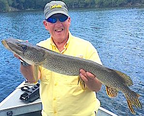 Big Pike Fishing at Fireside Lodge by Bob