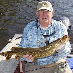 Fly Fishing for Northern Pike at Fireside Lodge is Great by Phil