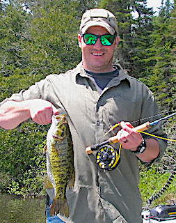 Fly-Fishing Trophy Smallmouth Bass in Canada by Brian at Fireside Lodge