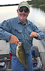 Tony with Another Trophy Smallmouth Bass Fishing at Fireside Lodge