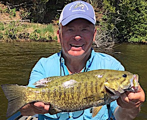 Trophy Smallmouth Bass are GREAT at Fireside Lodge By Carl