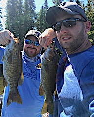 BIG Smallmouth Double by Zack and Nathan Fishing at Fireside Lodge in Canada