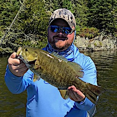 One of 37 Trophy Smallmouth Bass in 4 Days Fishing at Fireside Lodge in Canada