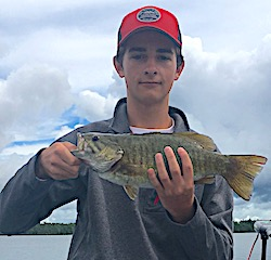 Great Fishing for BIG Smallmouth Bass by Jack at Fireside Lodge in Canada
