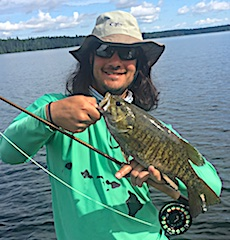Fly Fishing in Canada for BIG Smallmouth Bass at Fireside Lodge by Kody