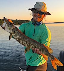 Large Northern Pike Fly Fishing by Kody in Canada