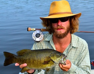 Fly Fishing Trophy Smallmouth Bass at Fireside Lodge Canada by Austin