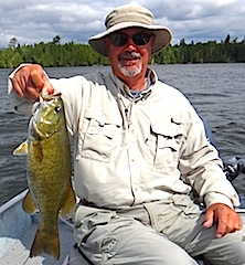 Many Trophy Smallmouth Bass Fishing at Fireside Lodge by Joe Foos