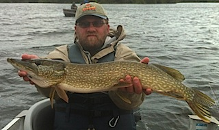 Great Northern Pike Fishing by Brad Spahr at Fireside Lodge