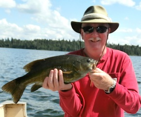 Big Trophy Smallmouth Bass Fishing at Fireside Lodge Canada by Pat Hobson