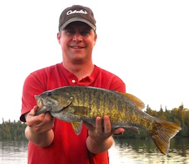 Super Trophy Smallmouth Bass Fishing at Fireside Lodge Canada by Todd Plumley