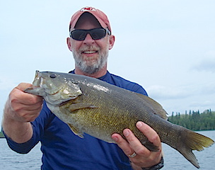 Trophy Smallmouth Bass Fishing by Ron Ramsey at Fireside Lodge