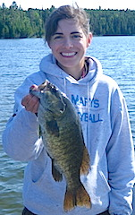 BIG Smallmouth Bass Fishing at Fireside Lodge are Common