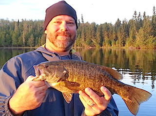 Trophy Smallmouth Bass Fishing at Fireside Lodge by Martin
