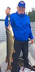 Big Northern Pike Fishing by Randy at Fireside