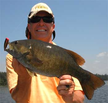 Trophy Smallmouth Bass Surface Fishing in Canada