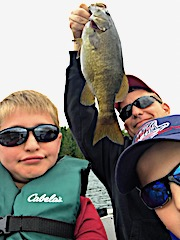 Fun Smallmouth Bass Fishing with Family and Friends at Fireside Lodge in Canada