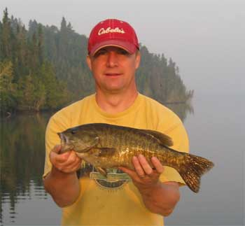 lot of trophy smallmouth bass at fishing lodges in canada