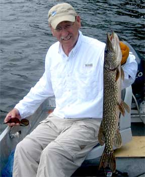 catch northern pike fishing for smallmouth bass in canada