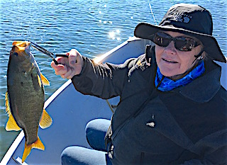 Smallmouth Bass are BIG Fishing at Fireside Lodge by Claire