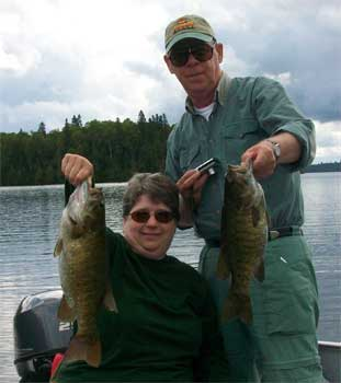 big spawning smallmouth bass in Canada