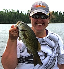 Great Fun Bass Fishing at Fireside Lodge by Helen Knowles