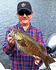 Trophy Smallmouth Bass Fishing at Fireside Lodge Canada by Jon