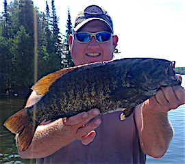 HUGE 19.5-inch Trophy Smallmouth Bass Fishing by Todd