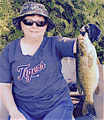 Trophy Smallmouth Bass Fishing by Janet