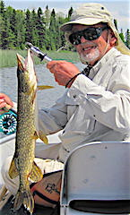 Fly Fishing Northern Pike at Fireside Lodge by Ralph