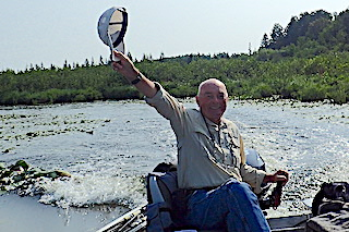 Bob Giving His Send off to The Great Canadian Wilderness Fishing Adventure Until The Next Time