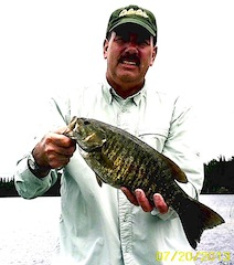 20-inch Trophy Smallmouth Bass Fishing at Fireside Lodge Canada by Bill
