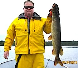 Big 36-inch Northern Pike are common Fishing at Fireside Lodge Canada