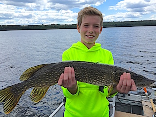 Father & Son Fishing Northern Pike by Michael