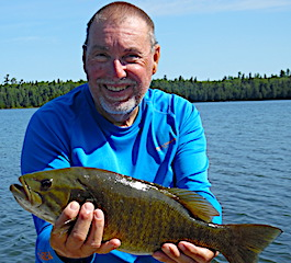 1 of 3 Trophy Smallmouth Bass Fishing by Bob at  Fireside Lodge in Canada