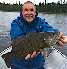 Special Trophy Smallmouth Bass Fishing at Fireside Lodge in Canada by Bob