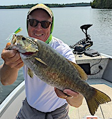 Trophy Smallmouth Bass Fly-Fishing by Mike in Canada