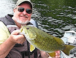 Trophy Smallmouth Bass Fishing at Fireside Lodge in Canada by Dan