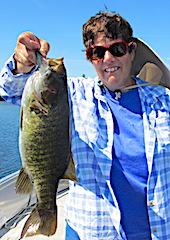 Trophy Smallmouth Bass Brings a Smile Fishing by JoAnn in Canada