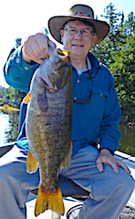 Another HUGE Trophy Smallmouth Bass Fishing by Rich at Fireside Lodge in Canada