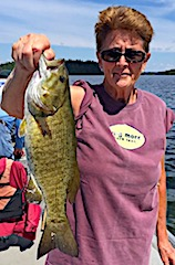 Trophy Smallmouth Bass are Common Fishing at Fireside Lodge in Canada by Judith