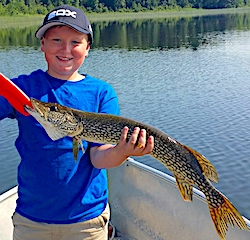 Brian Fishing For Northern Pike in Canada at Fireside Lodge for His First Time