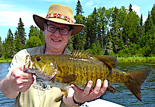 Monster Trophy Smallmouth Bass Fishing at Fireside Lodge in Northwest Ontario Canada by Rich Starzec
