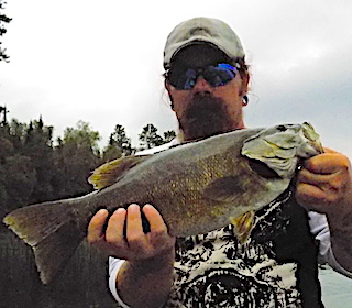 Trophy 18-inch Smallmouth Bass on 1st Fishing Trip to Canada by Josh