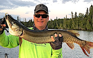 Muskie Surface Fishing for Smallmouth Bass by Craig at Fireside Lodge in Ontario Canada