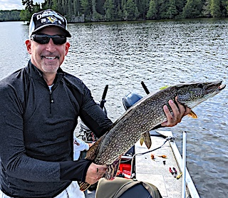 GREAT Northern Pike Fishing with Friends at Fireside Lodge in Northwest Ontario Canada