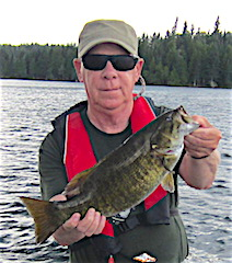 Big Beautiful Trophy Smallmouth Fishing at Fireside Lodge