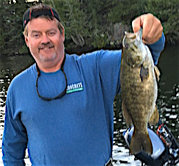 Big Smallmouth Bass Fishing by Ed Evers at Fireside Lodge