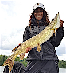 GREAT Rainy Day Northern Pike Fishing at Fireside Lodge