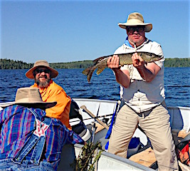 Family Fishing Fun fro Northern Pike at Fireside Lodge